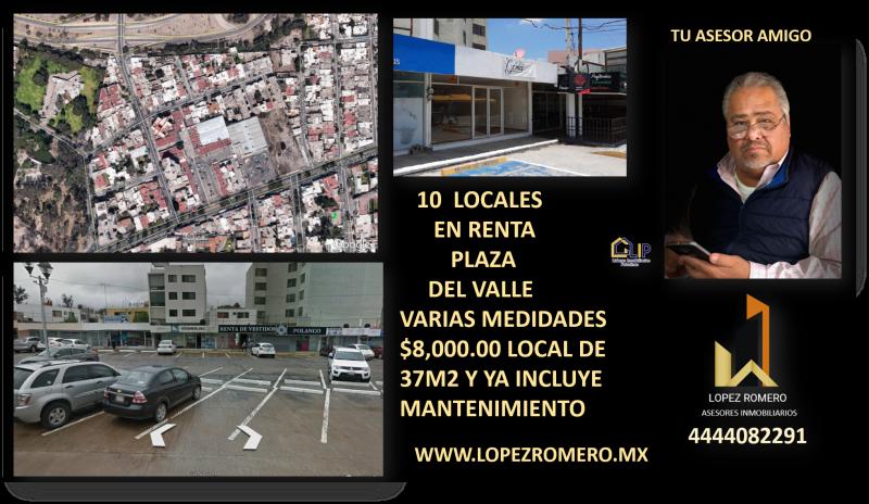 Renta de Local  en San Luis Potosi en FRACCIONAMIENTO DEL PARQUE