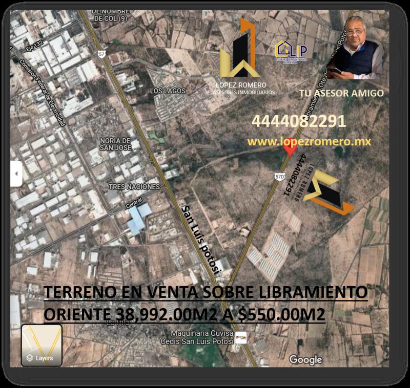 Venta de Terreno rustico  en San Luis Potosi en ZONA INDUSTRIAL