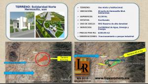 Venta de Terreno en  San Luis Potosi en HERMOSILLO SONORA