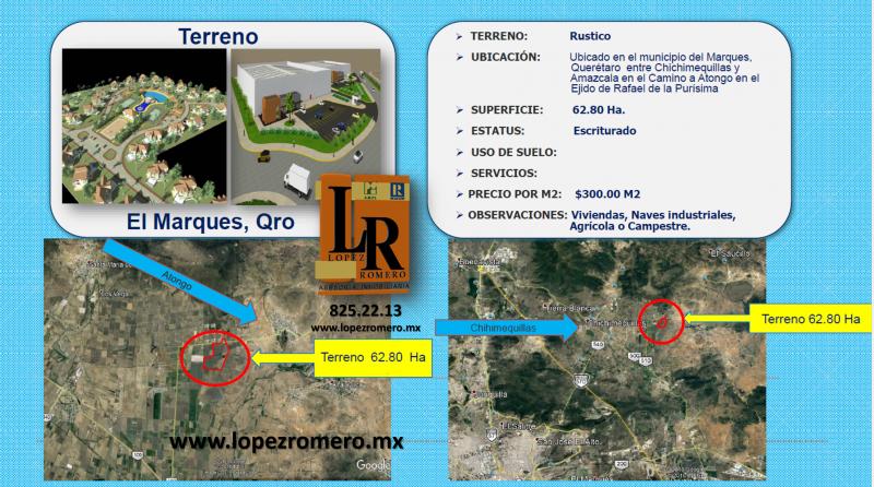 Venta de Terreno  en San Luis Potosi en MUNICIPIO DEL MARQUEZ