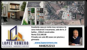 Renta de Casa en  San Luis Potosi en ALCEDA RESIDENCIAL