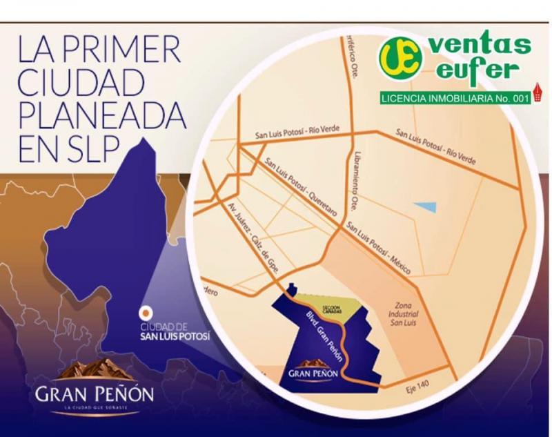 Venta de Terreno  en San Luis Potosi en GRAN PEÑON
