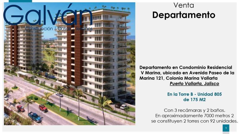 Venta de Departamento  en San Luis Potosi en Marina Vallarta