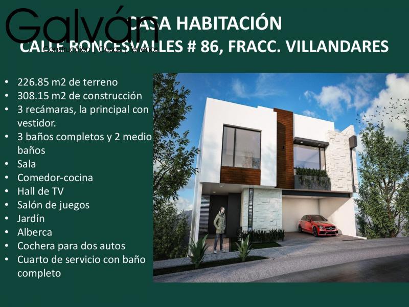 Venta de Casa  en San Luis Potosi en VILLANDARES RESIDENCIAL