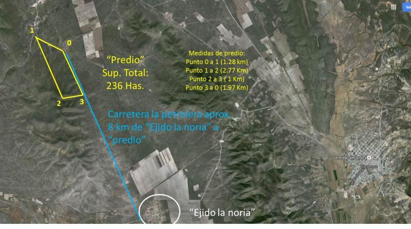 Venta de Terreno  en San Luis Potosi en CARDENAS
