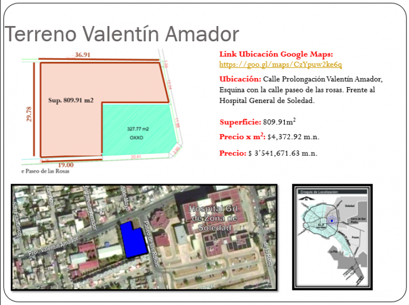 Venta de Terreno  en San Luis Potosi en SOLEDAD DE GRACIANO SANCHEZ