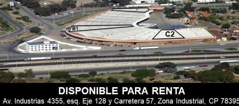 Renta de Bodega  en San Luis Potosi en ZONA INDUSTRIAL
